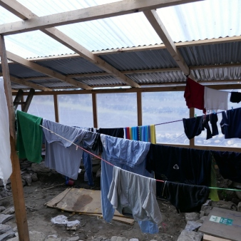 Indoor clothes drying area